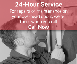 24-Hour Service | For repairs or maintenance on your overhead doors, we're there when you call